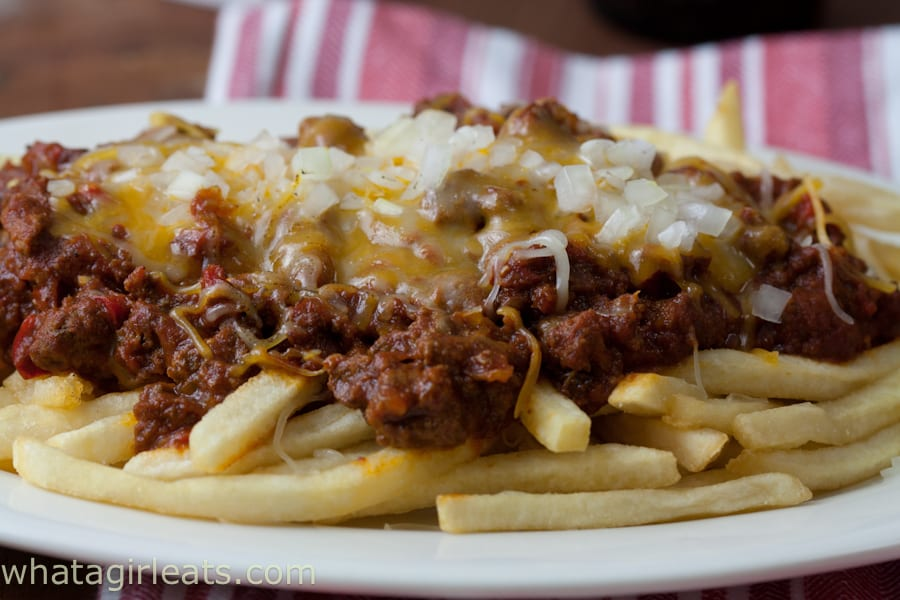 Sloppy Joe Cheese Fries Slow Cooker Recipe What A Girl Eats