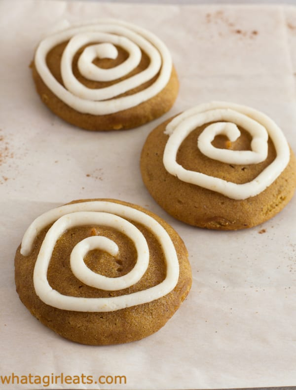 Pumpkin Spice Cookies with Browned Butter Frosting.
