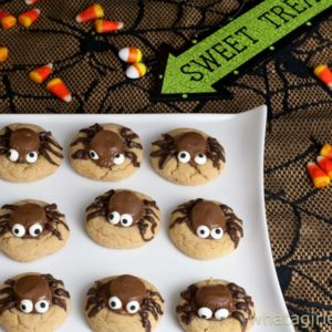 Peanut Butter Cup Spider Cookies