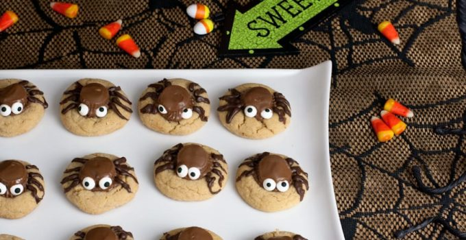 Peanut Butter Cup Cookie Spiders