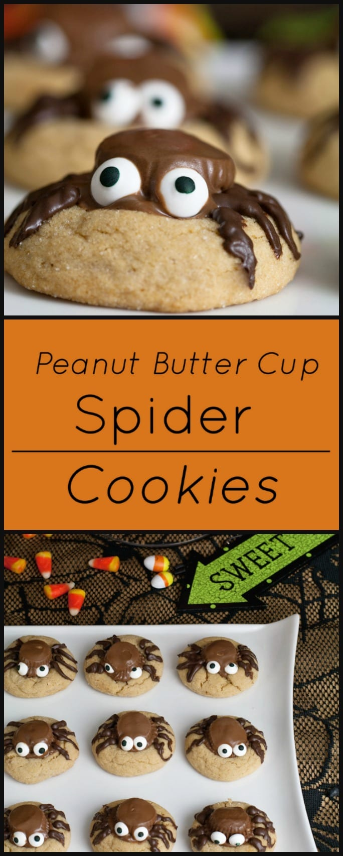 These Peanut Butter Cup Spider Cookies are so easy to make! Perfect for a Halloween Party!