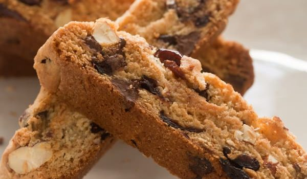 Cherry-Almond Biscotti With Chocolate Chips