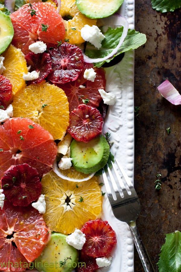 Winter Citrus Salad with Orange Dijon Vinaigrette