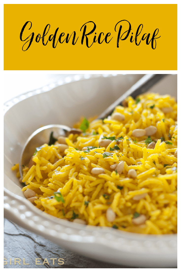 This golden rice pilaf is the perfect side dish to accompany any entree.