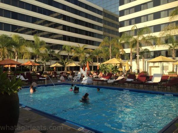 Fairmont hotel pool.