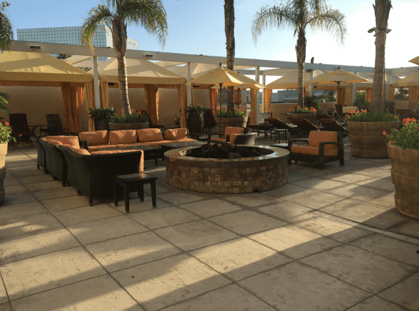 Fire pit near the pool.