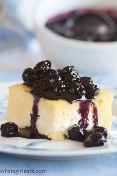 This easy Blintz Soufflé can be assembled the night before, and then baked in the morning.