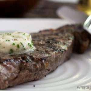 Shallot-Horseradish Chive Steak Butter.