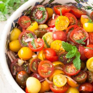 tomato mint salad paleo gluten free whole30