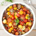 Tomato Balsamic Mint Salad