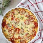 This simple Gluten-Free Tomato Cheese Tart is a breeze to throw together and makes perfect use of garden tomatoes!.