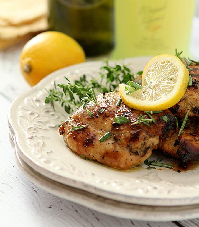 Limoncello and Herb BBQ Chicken