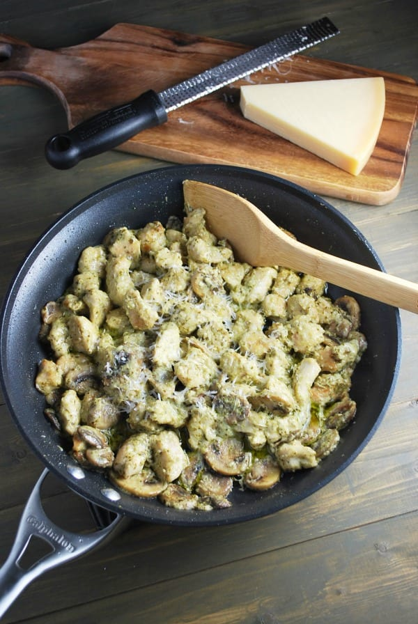 Skillet Pesto Chicken.