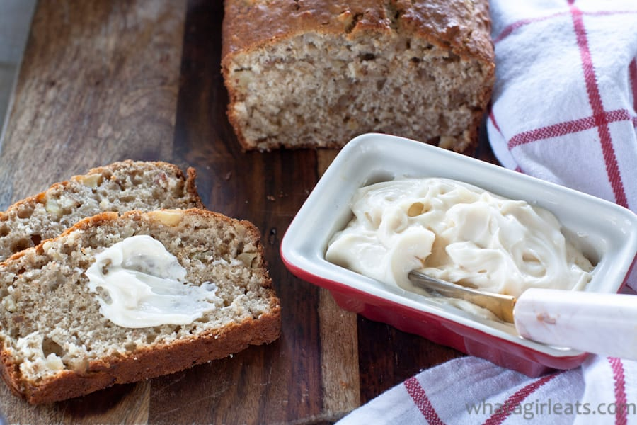 Apple Walnut Bread with Maple Butter.