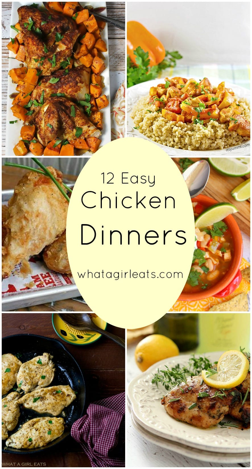 12 Easy Chicken Dinners for busy weeknights. National Chicken Month.