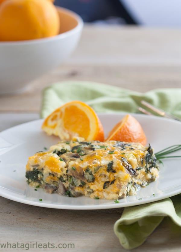 Spinach and Mushroom Breakfast Casserole