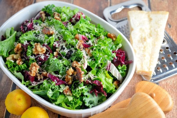 Kale, Radicchio and Currant Salad with Lemon Dressing. Photo courtesy of Savory Experiments.