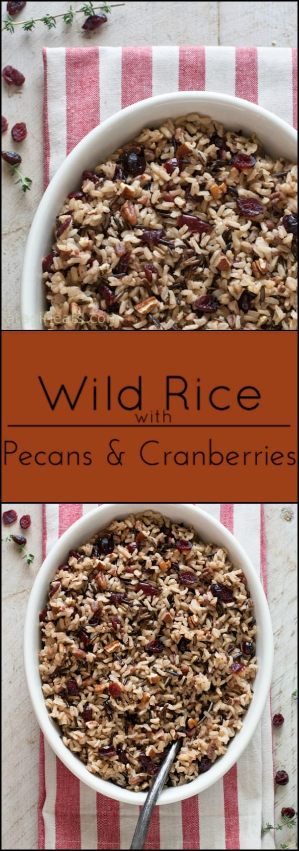 Wild rice with pecans and cranberries is a nice gluten free alternative to stuffing. It goes well with any poultry dish.