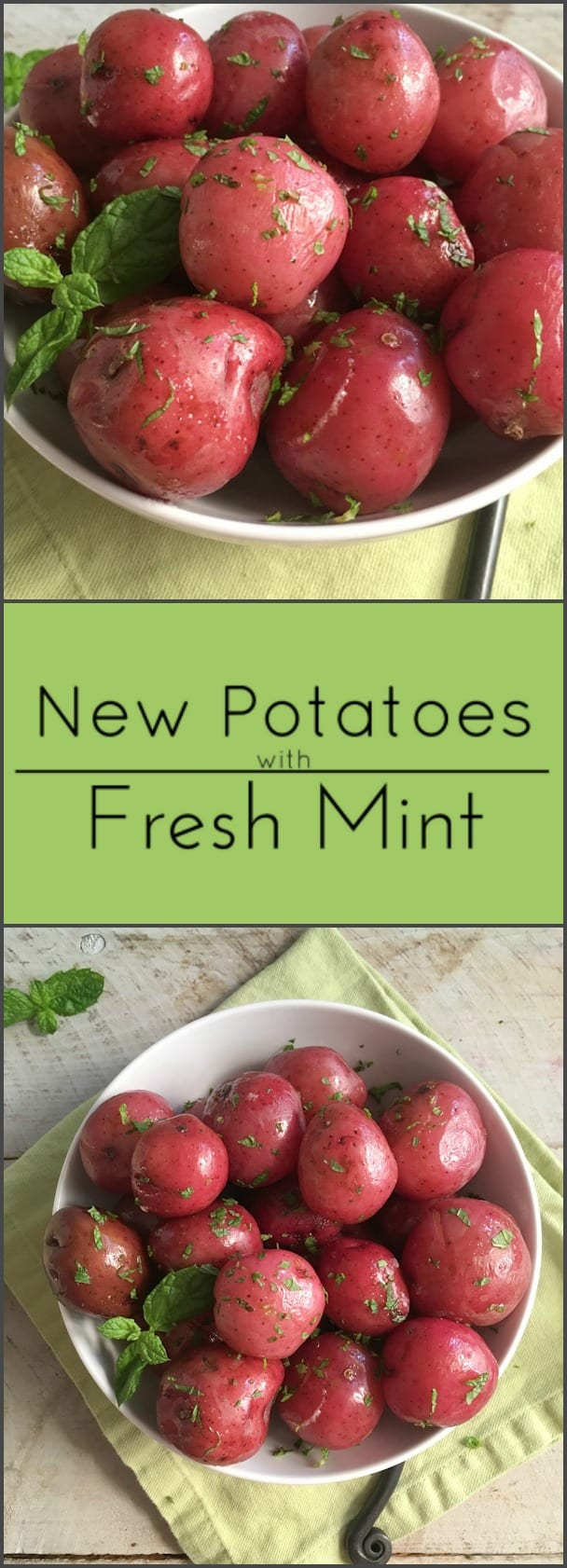 Minted new potatoes are a great side dish and naturally gluten free.