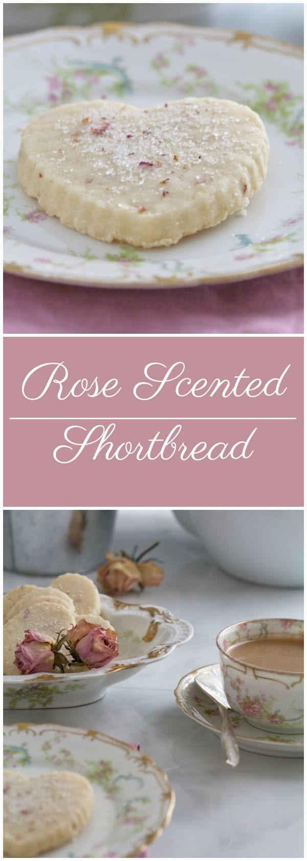 Rose Scented Shortbread