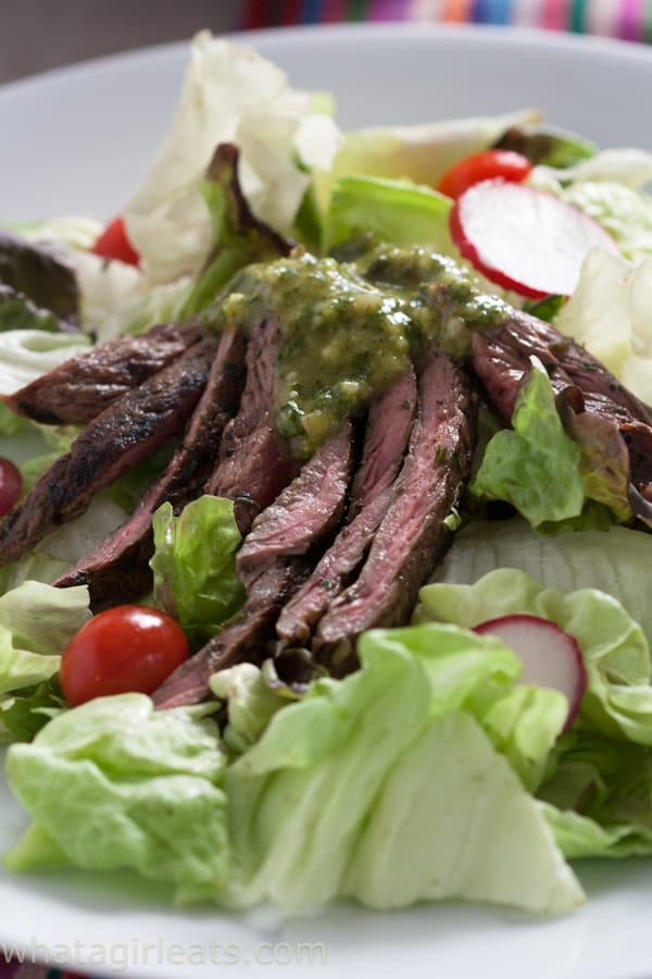 Take your grilled meat up a notch with this Cilantro-Garlic Marinade and Sauce is Whole30 compliant and Paleo.