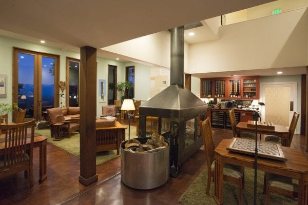 The Great Room and fireplace. (Photo courtesy of the Brewery Gulch Inn)