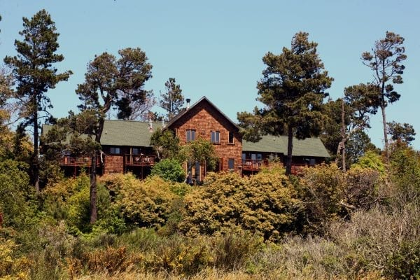 Brewery Gulch Inn, Mendocino, from Highway 1. Photo courtesy of the Brewery Gulch Inn.