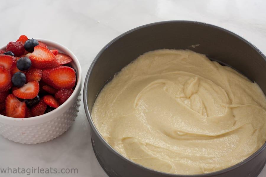 King Arthur Berries And Cream Cake