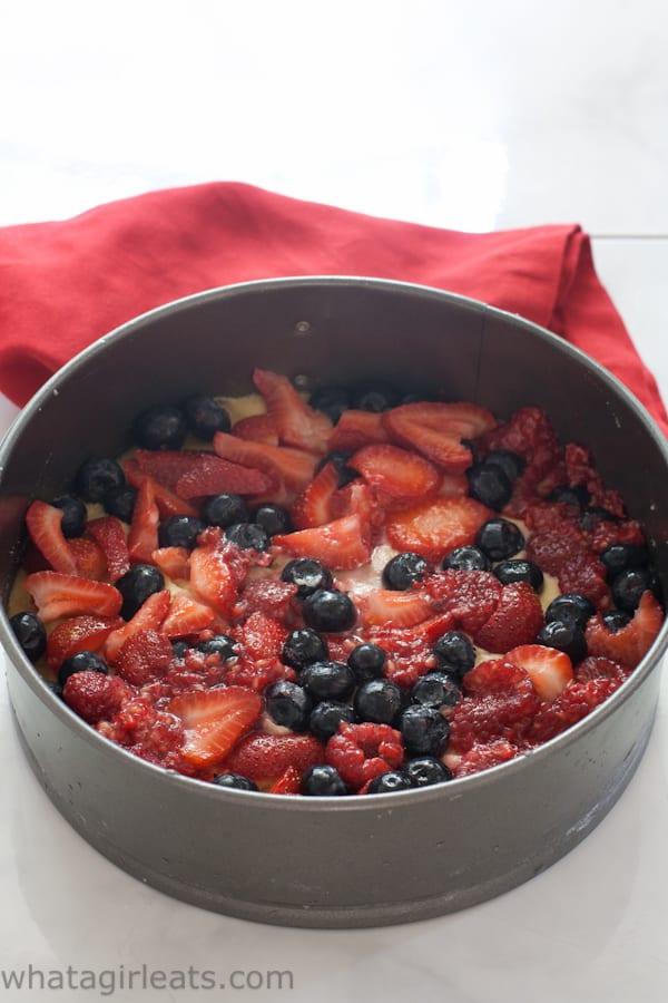 Grain and gluten-free Fresh Berry Cake.