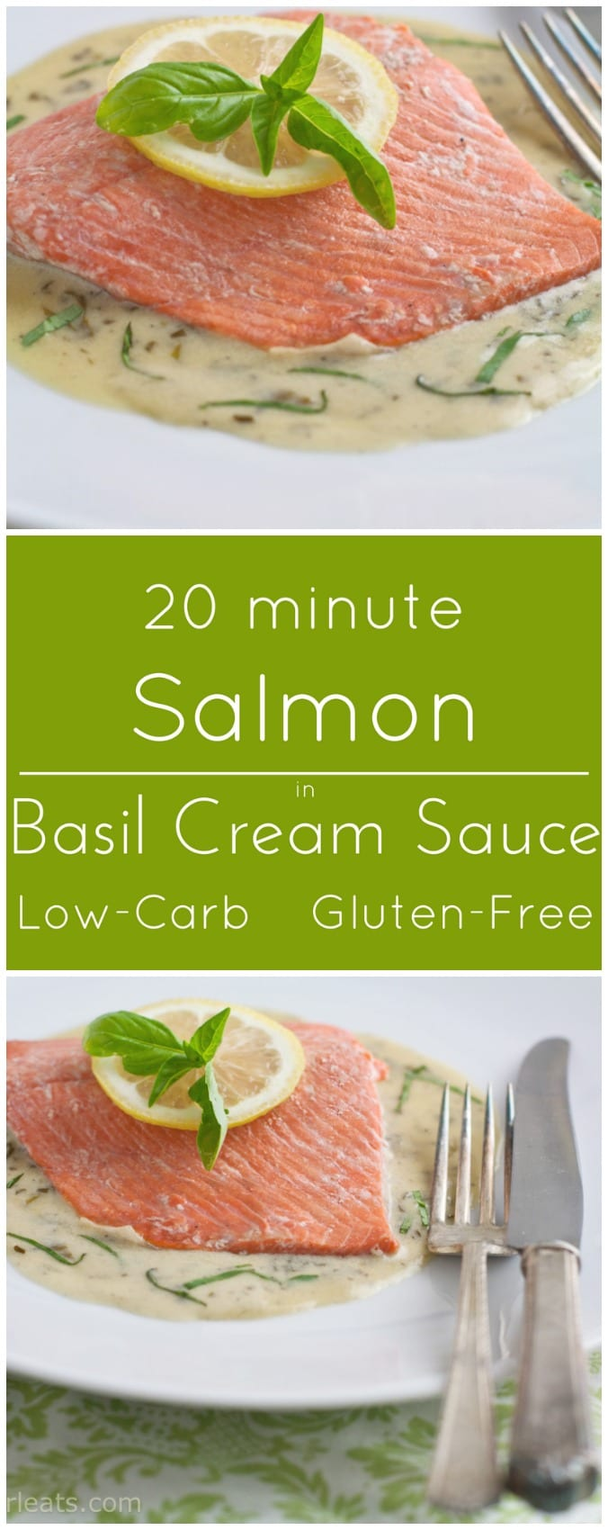 Salmon in Basil Cream