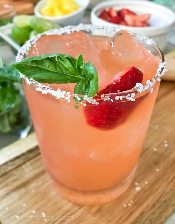 Strawberry Basil Margarita..a favorite! How To Throw The Perfect {Make Your Own} Margarita Party!