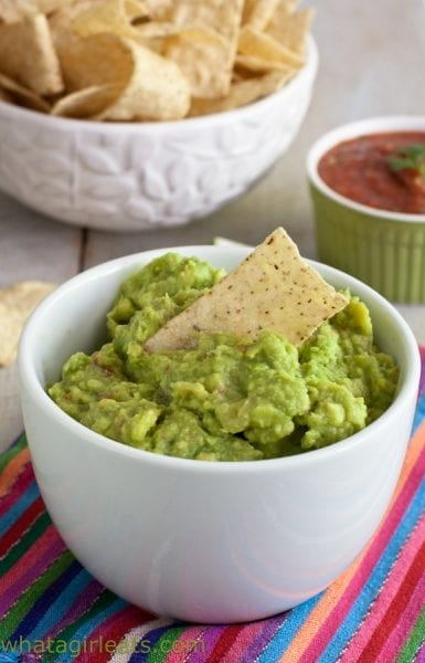 Fresh guacamole, whatagirleats.com