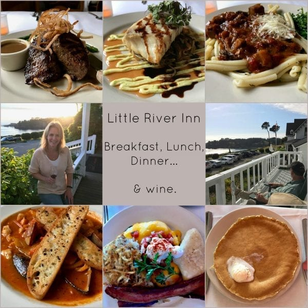 Little River inn dining menu