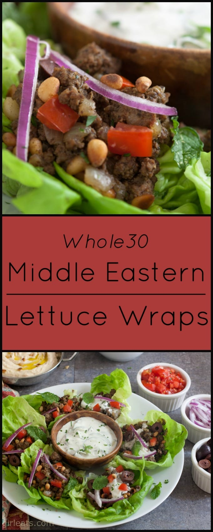 These Middle Eastern Lettuce Wraps are Whole30 compliant, low carb and gluten free.