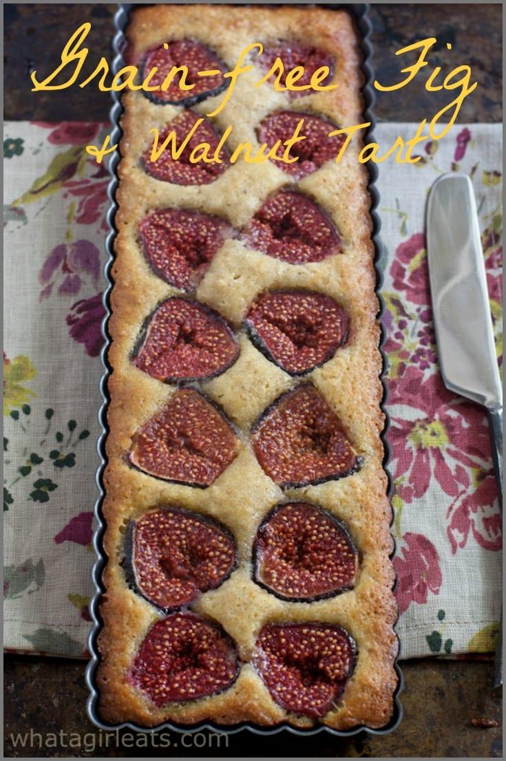 Grain Free Fig and Walnut Tart