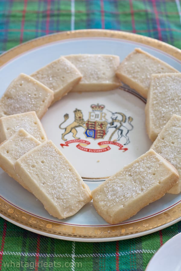 Scottish shortbread Queen Elizabeth Coronation Plate.