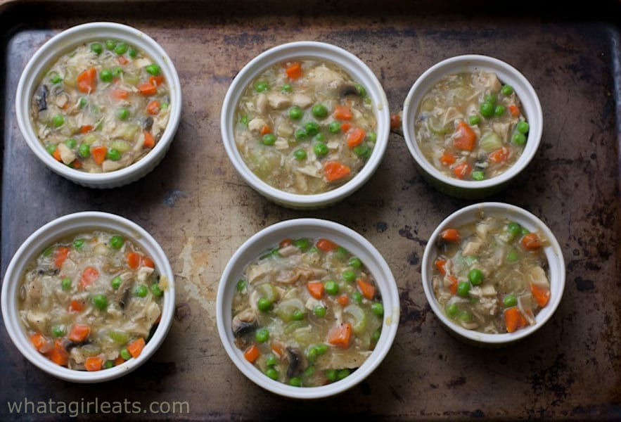 Cheesy Potato-Crusted Chicken Pot Pies