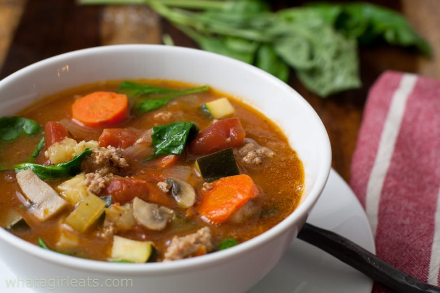 Whole30 Mediterranean Soup With Sausage