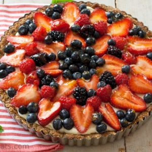 Fruit tart top shot