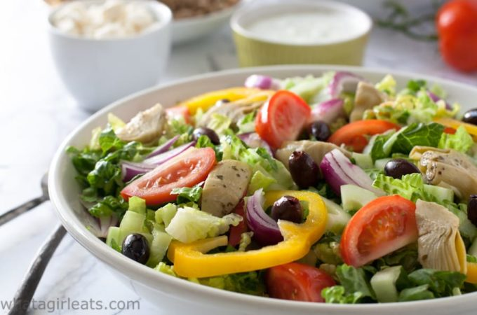 Greek Gyros salad keto whole30