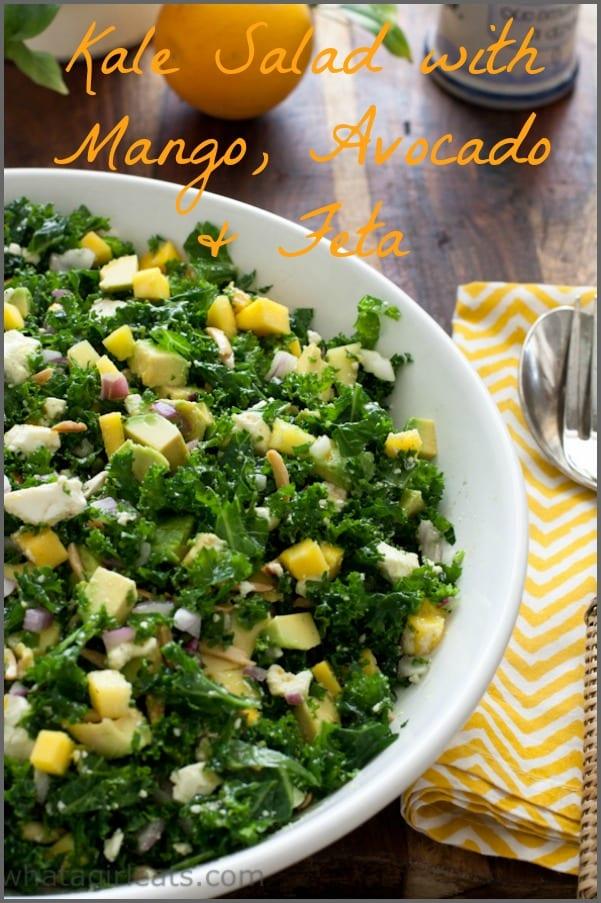 kale salad mango avocado feta
