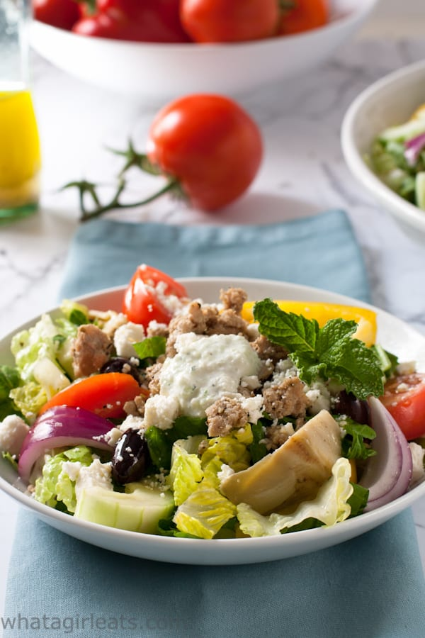 Keto Greek Gyro Salad