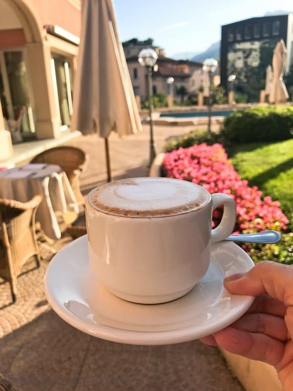 cappuccino Hotel de la Paix lugano switzerland