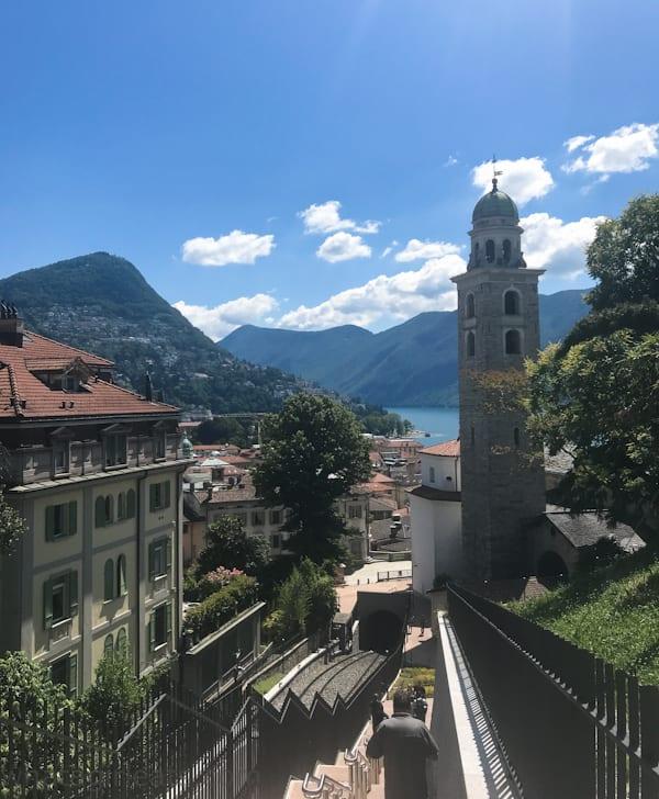 lugano FunicularLugano And Bellinzona Switzerland; What To Do In Two Days