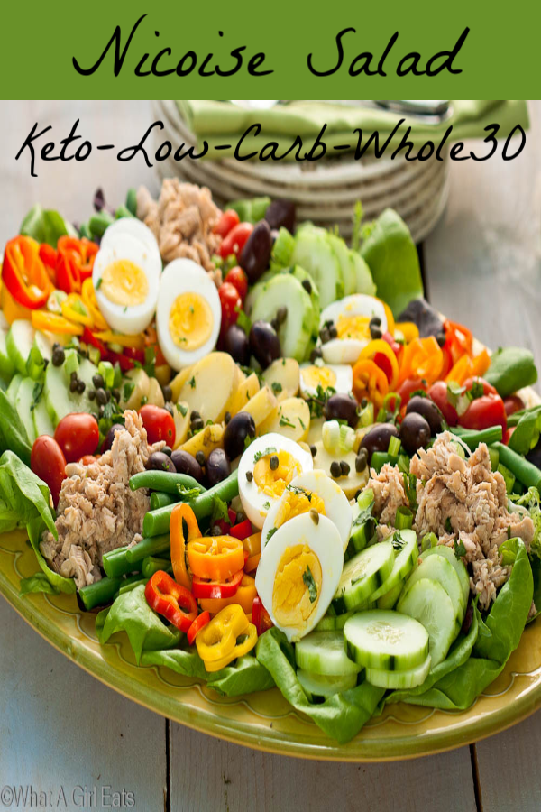 Nicoise salad on a platter
