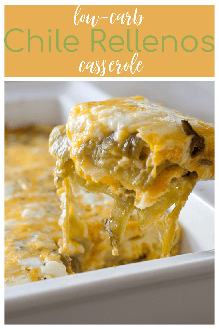 This Hatch Chile Rellenos Casserole is a low-carb version of traditional chile rellenos. Naturally low-carb and gluten free it's delicious for breakfast, lunch or dinner!