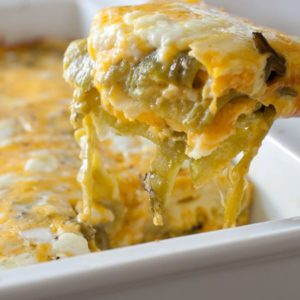 Low Carb Hatch Chile Rellenos Casserole