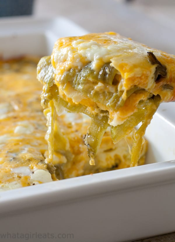low carb chile cheese casserole