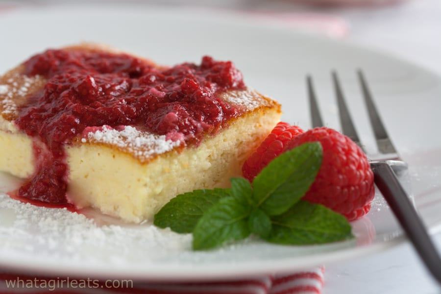 Low carb blintz souffle