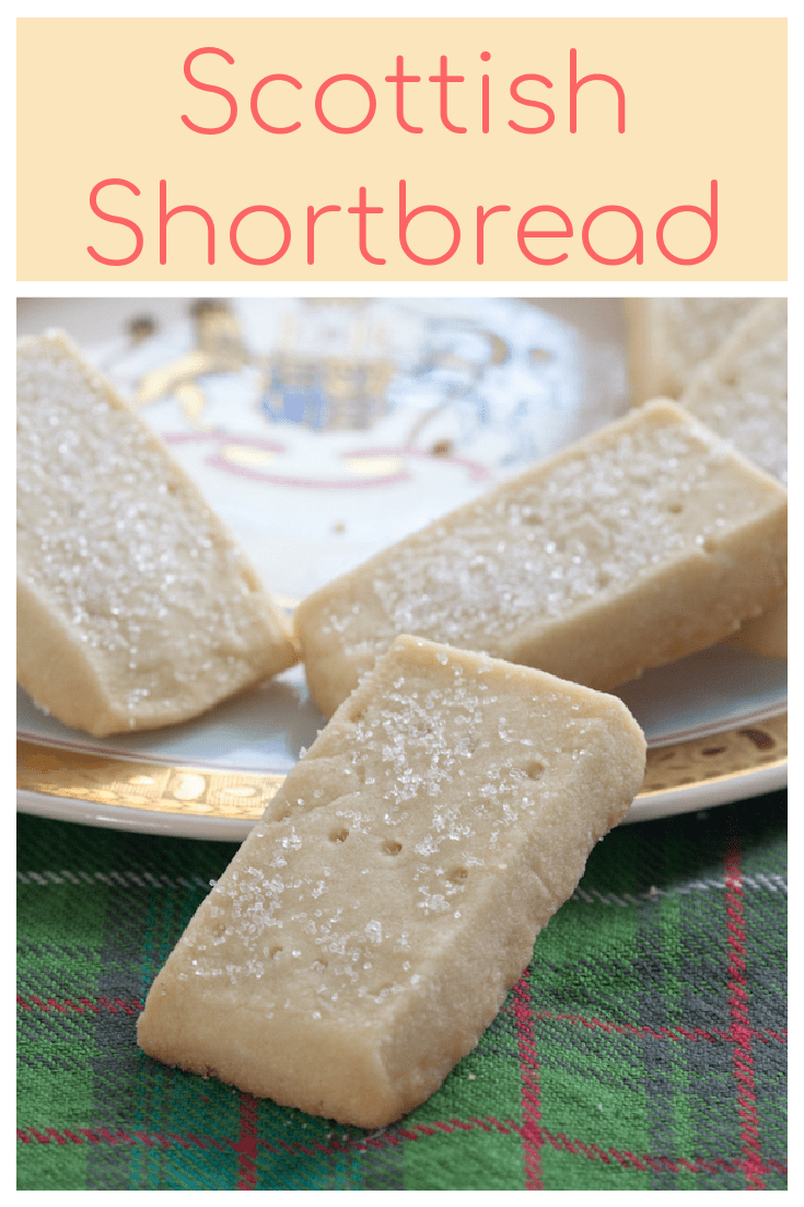 Scottish shortbread is a deliciously simple biscuit (cookie) with just 3 ingredients. Perfect with a cup of tea!